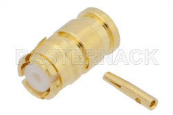 SMP Female Connector Solder Attachment for RG178, RG196