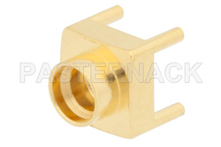 SMP Male Full Detent Connector Solder Attachment Thru Hole PCB, Up To 8 GHz
