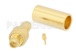 MMCX Plug Connector Crimp/Solder Attachment For RG188-DS, RG316-DS