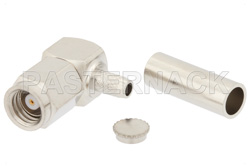 SMC Plug Right Angle Connector Crimp/Solder Attachment for RG316-DS, RG188-DS