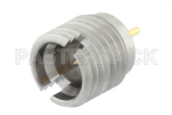 SMP Male Full Detent Connector Solder Attachment Thread-In Mount Pin Terminal, .065 inch Pin Length
