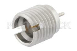 SMP Male Full Detent Connector Solder Attachment Thread-In Mount Pin Terminal .065 inch Pin Length Pre-Tinned