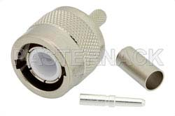 C Male Connector Crimp/Solder Attachment for RG58, RG303, RG141, PE-C195, PE-P195, LMR-195, 0.195 inch