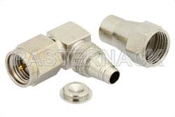 SMA Male Right Angle Connector Clamp/Solder Attachment For RG180, RG195