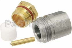 N Female Connector Solder Attachment for PE-SR402AL, PE-SR402FL, RG402