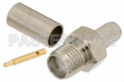RP SMA Female Connector Crimp/Solder Attachment For RG58