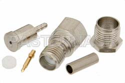 RP SMA Female Connector Crimp/Solder Attachment For RG178, RG196