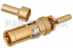 D-Sub Receptacle Contact Crimp/Solder Attachment For RG178, RG196