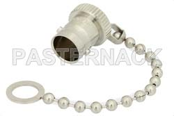 BNC Female Non-Shorting Dust Cap with 3.1 Inch Chain