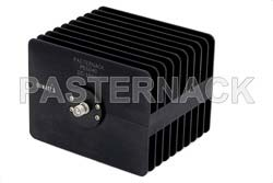 50 Watt RF Load Up to 18 GHz With SMA Female Input Square Body Black Anodized Aluminum Heatsink