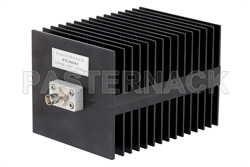 High Power 100 Watt RF Load Up To 2 GHz With BNC Female Input Square Body Black Anodized Aluminum Heatsink