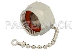 7/16 DIN Male Non-Shorting Dust Cap With 4 Inch Chain