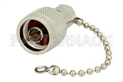 50 Ohm 0.5 Watts Nickel Plated Brass N Male RF Load With Chain Up To 1,000 MHz