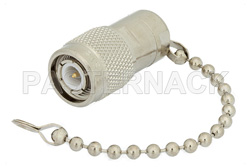93 Ohm 0.5 Watts Nickel Plated Brass TNC Male RF Load With Chain Up To 1,000 MHz