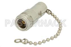 0.5 Watt RF Load with Chain Up to 1,000 MHz with N Female Nickel Plated Brass