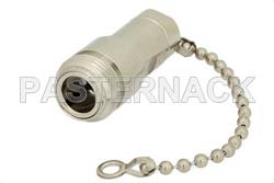 75 Ohm 0.5 Watts Nickel Plated Brass N Female RF Load With Chain Up To 1,000 MHz