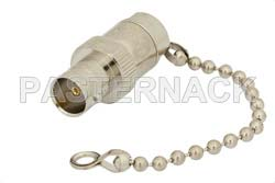 75 Ohm 0.5 Watts Nickel Plated Brass BNC Female RF Load With Chain Up To 1,000 MHz