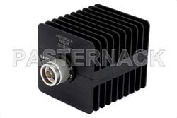 25 Watt RF Load Up to 18 GHz With N Male Input Square Body Black Anodized Aluminum Heatsink