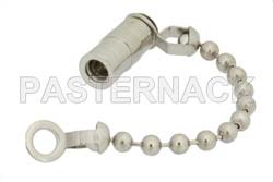 SMB Plug Non-Shorting Dust Cap With 2.5 Inch Chain