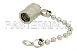 75 Ohm SMB Plug Non-Shorting Dust Cap With 2.5 Inch Chain