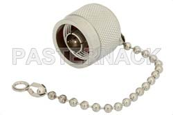 N Male Shorting Dust Cap With 4 Inch Chain