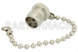 TNC Female Shorting Dust Cap With 4 Inch Chain