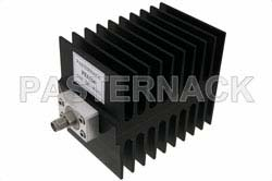 Medium Power 50 Watts RF Load Up To 4 GHz With SMA Male Input Square Body Black Anodized Aluminum Heatsink
