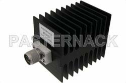Medium Power 50 Watts RF Load Up To 4 GHz With N Male Input Square Body Black Anodized Aluminum Heatsink
