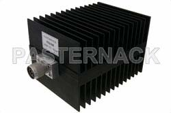 High Power 100 Watt RF Load Up to 4 GHz With N Male Input Square Body Black Anodized Aluminum Heatsink