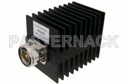 Medium Power 50 Watts RF Load Up To 4 GHz With 7/16 DIN Male Input Square Body Black Anodized Aluminum Heatsink
