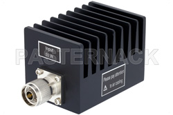 50 Watt RF Load Up to 4 GHz With N Male Input Square Body Black Anodized Aluminum Heatsink