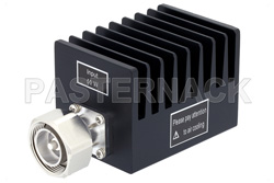 50 Watt RF Load Up to 3 GHz With 7/16 DIN Male Input Square Body Black Anodized Aluminum Heatsink