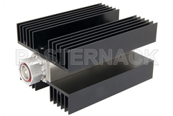 High Power 100 Watt RF Load Up to 3 GHz With 7/16 DIN Male Input Conduction Cooled Body Black Anodized Aluminum Heatsink