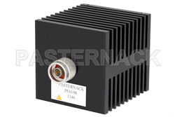 50 Watt RF Load Up to 18 GHz With N Male Input Square Body Black Anodized Aluminum Heatsink