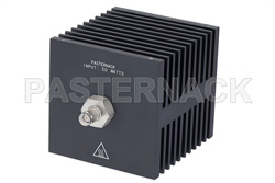 50 Watt RF Load Up To 18 GHz With SMA Male Input Square Body Black Anodized Aluminum Heatsink