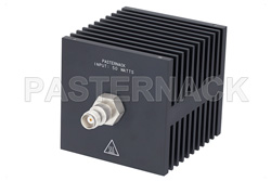 Medium Power 50 Watts RF Load Up To 18 GHz With TNC Female Input Square Body Black Anodized Aluminum Heatsink