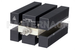 High Power 100 Watts RF Load Up To 8 GHz With SMA Male Input Conduction Cooled Body Black Anodized Aluminum Heatsink