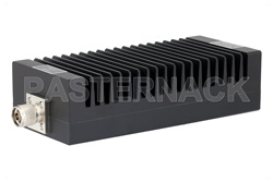 High Power 200 Watt RF Load Up to 3 GHz With N Male Input High Power Black Anodized Aluminum Heatsink