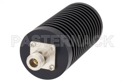 50 Watt RF Load Up to 3 GHz With N Female Input Round Body Black Anodized Aluminum Heatsink