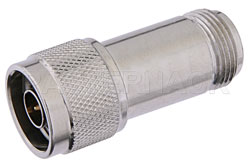10 dB Fixed Attenuator, N Male to N Female Passivated Stainless Steel Body Rated to 2 Watts Up to 18 GHz