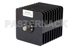 3 dB Fixed Attenuator, SMA Male to SMA Female Black Anodized Aluminum Heatsink Body Rated to 25 Watts Up to 18 GHz