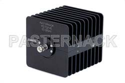 40 dB Fixed Attenuator, SMA Male to SMA Female Black Anodized Aluminum Heatsink Body Rated to 25 Watts Up to 18 GHz