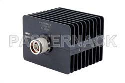 10 dB Fixed Attenuator, N Male to N Female Directional Black Anodized Aluminum Heatsink Body Rated to 50 Watts Up to 18 GHz