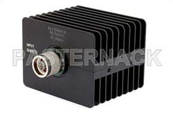 40 dB Fixed Attenuator, N Male to N Female Directional Black Anodized Aluminum Heatsink Body Rated to 50 Watts Up to 18 GHz