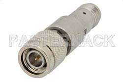 6 dB Fixed Attenuator, TNC Male to TNC Female Passivated Stainless Steel Body Rated to 2 Watts Up to 18 GHz