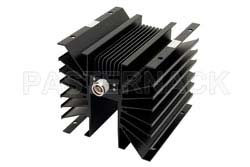 10 dB Fixed Attenuator, N Male to N Female Directional Black Anodized Aluminum Heatsink Body Rated to 300 Watts Up to 1,000 MHz