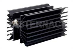 10 dB Fixed Attenuator, N Male To N Female Directional Black Anodized Aluminum Heatsink Body Rated To 500 Watts Up To 1000 MHz