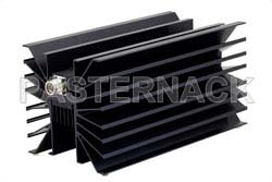 6 dB Fixed Attenuator, N Male To N Female Directional Black Anodized Aluminum Heatsink Body Rated To 500 Watts Up To 1000 MHz