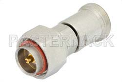 30 dB Fixed Attenuator, 7/16 DIN Male to 7/16 DIN Female Brass Tri-Metal Body Rated to 5 Watts Up to 7.5 GHz