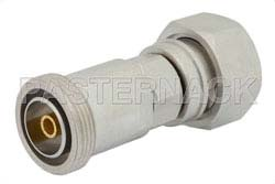 40 dB Fixed Attenuator, 7/16 DIN Male to 7/16 DIN Female Brass Tri-Metal Body Rated to 5 Watts Up to 7.5 GHz